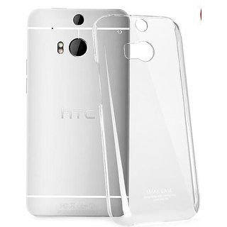 Transparent Silicone back cover case for HTC One M8