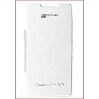 Micromax Canvas Nitro A310 Flip Cover White