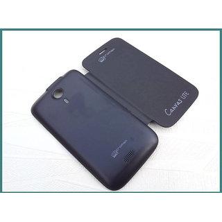 Micromax Canvas Lite A92 Flip Cover - Black