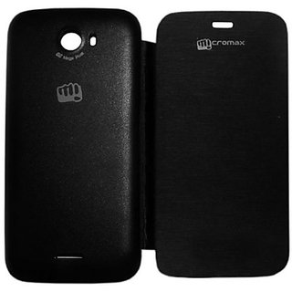 Flip Cover Flip Cover for Micromax Bolt A068(Black)