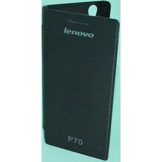 Premium Grade Flip Cover Hard Back Case For LENOVO P70 P 70 BLACK