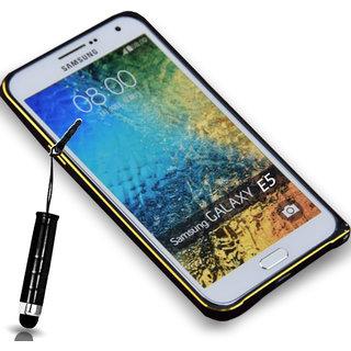 Samsung Galaxy E5 Aluminum Bumper Frame Case Cover Black