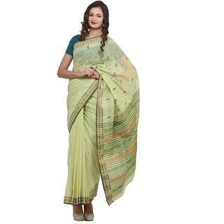 Bengal Handloom saree SC-18(Light green)
