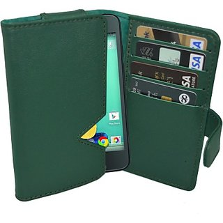 Totta Wallet Case Cover for Spice Stellar 526n Octa (Green)
