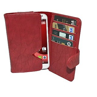 Totta Wallet Case Cover for Motorola Google Nexus 6 (Red)