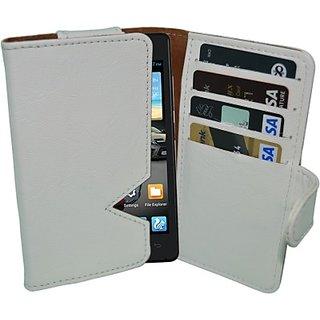Totta Wallet Case Cover for Gionee Ctrl V5 (White) ACCE8URSTAYFWPH2