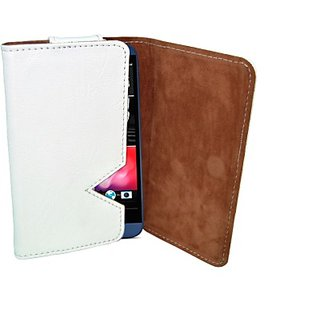 Totta Wallet Case Cover for Vivo V1 (White)