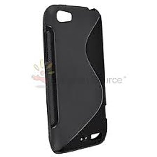Black S Line Soft Tpu Gel Back Case Cover Skin For Htc One V