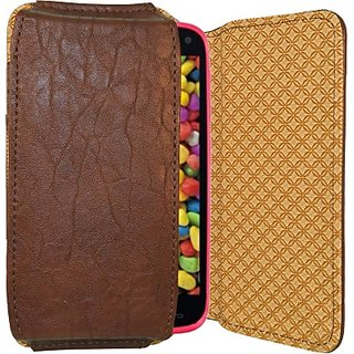 Totta Pouch for Gionee Elife E6 (Brown)