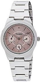 Timex Quartz Pink Round Women Watch J100