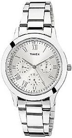 Timex Quartz Silver Dial Women Watch-TW000Q806