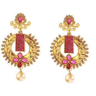 14Fashion Pink Gold finish Traditional earing-1307403A