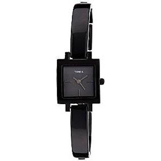 Timex Quartz Black Dial Women Watch-TWEL11202
