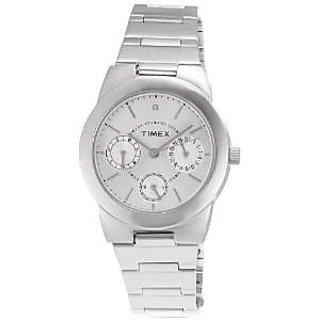 Timex Quartz Silver Round Women Watch J103