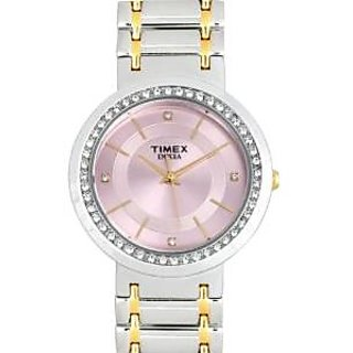 Timex Quartz Pink Dial Women Watch-nu03