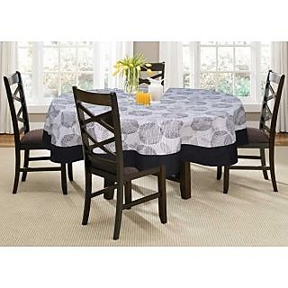 Lushomes 4 Seater Geometric  Printed Round Table Cloth