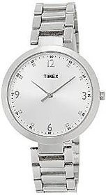 Timex Quartz Silver Round Women Watch TW000X202