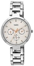 Timex Quartz Silver Round Women Watch TW000X204