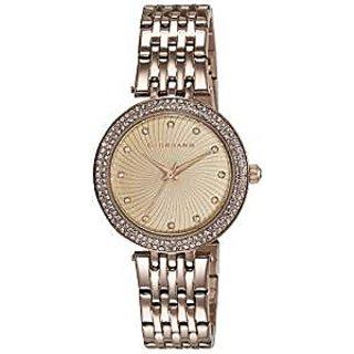Giordano Quartz Rose Gold Dial Women Watch-2737-55