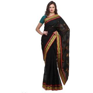 Bengal Handloom saree SC-23( Deep Black)