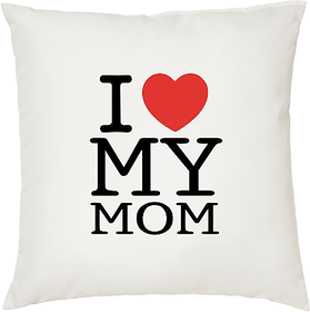 Love my Mom  ShopTwiz Printed Cushion Cover 12 Inch ( Cushion Included )