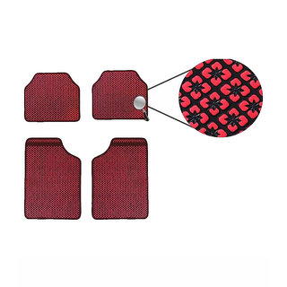 Takecare Red Car Floor Mat For Mahindra Xuv 500 Old 2010-2014