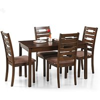 ANGIRA Solid Wood Dining Set(Finish Color - Honey Brown)
