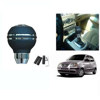 Takecare  Car Chrome Finish Black  Gear Shift  Knob  For  Hyundai Santro Xing