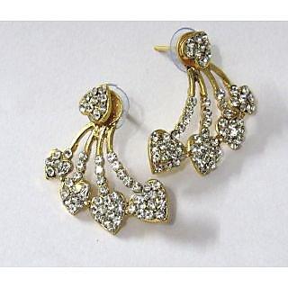 Golden Heart Shape Stone Kaan Earring