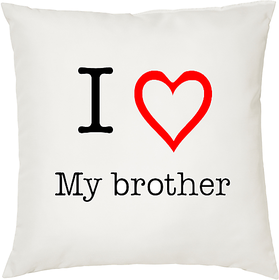 I Love My Brother  ShopTwiz Printed Cushion Cover 12 Inch ( Cushion Included )