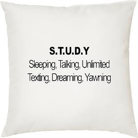 S.T.U.D.Y  ShopTwiz Printed Cushion Cover 12 Inch ( Cushion Included )
