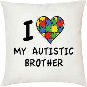 My Autistic Brother  ShopTwiz Printed Cushion Cover 12 Inch ( Cushion Included )