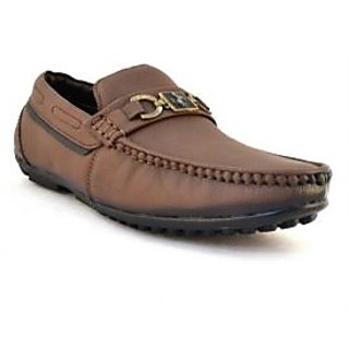 Zoot24 Mens Brown Casual Loafers