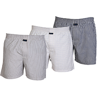 Careus MenS Cotton Boxers (Pack Of 3)