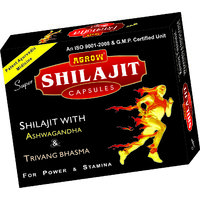 Agrow Super Shilajeet Capsules (60 Capsule Pack)