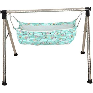indian style fully folding stainless steel ghodiyu  baby cradle  with cotton hammock indian style fully folding stainless steel ghodiyu  baby cradle      rh   shopclues