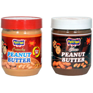 PRUTINA PEANUT BUTTER-340G ( CRUNCHY AND CHOCO ) PACK OF 2