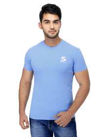Surly Plain Sky Blue Single Jersey Lycra T Shirt