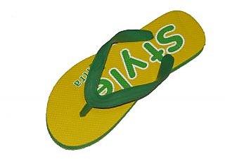 Forever Mens Yellow Flip Flops