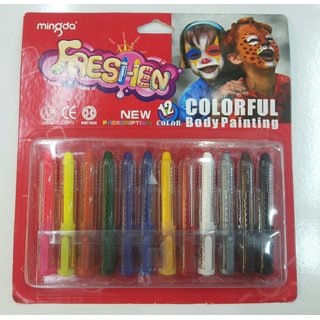 Colourful Body Painting Set Of 12