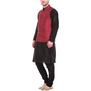 Smith Silk thread THREADS Mens Art Silk Kurta Pyjama Set