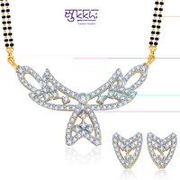 Sukkhi Elegant Gold and Rhodium Plated CZ Mangalsutra Set