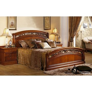 wooden kingsize bed with storage box