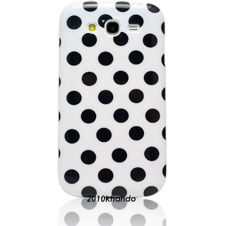 2010Karido For Samsung Galaxy Grand I9082 White With Black Dots