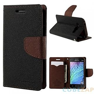 Mercury Flip Cover For yureka black/brown