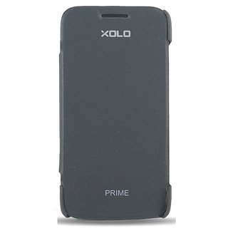 uk availability 16309 a9117 Xolo Prime Flip Cover Black