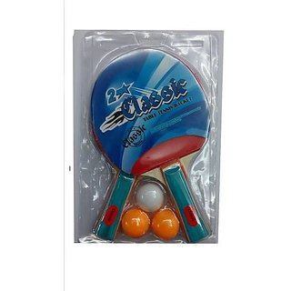 Table Tennis Set (2 TT Bat + 3 TT Balls)