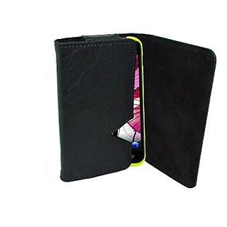 Totta Wallet Case Cover for BLU Dash 5.0 (Black)