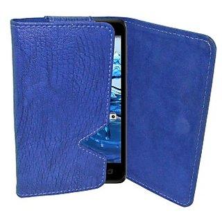 Totta Wallet Case Cover for Gigabyte GSmart Mika MX (Blue)