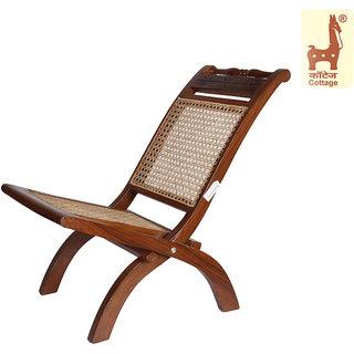 Buy Cottage Emporium Folding Cane Knitted Chair Sheesham